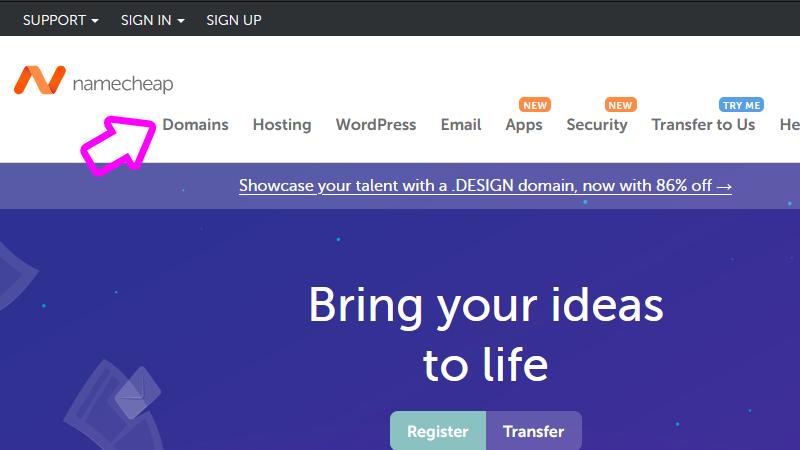 find domain name namecheap.com